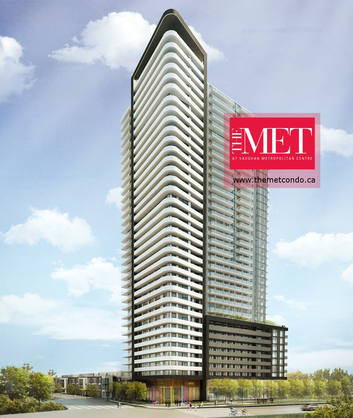 The Met Condos Rendered with Logo